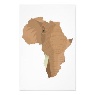 L phant africain papier lettre l phant africain personnalis - Arbre africain en 7 lettres ...