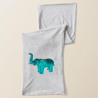 Éléphant bleu-clair écharpe