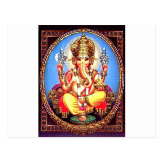 Éléphant d'Asie de Ganesha (गणेश) Carte Postale