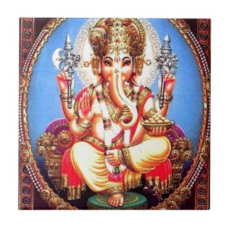 Éléphant d'Asie de Ganesha (गणेश) Petit Carreau Carré