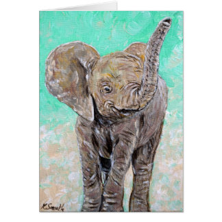 Éléphant de bébé carte
