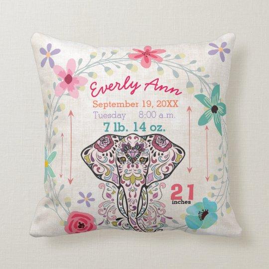 Éléphant de créature de jungle de bébé de stat de oreillers