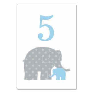 Éléphant de gris bleu du numéro | de Tableau de