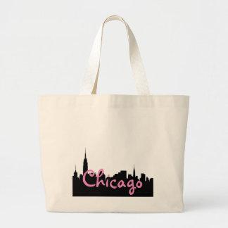 Éléphant Fourre-tout de paysage urbain de Chicago Grand Sac