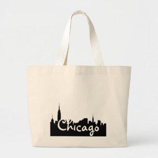 Éléphant Fourre-tout de paysage urbain de Chicago Sac En Toile Jumbo