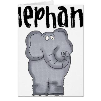Éléphant gris carte de vœux