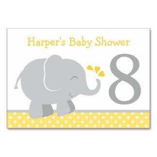Éléphant gris jaune du numéro   de Tableau de baby