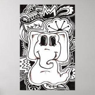 Éléphant psychédélique posters