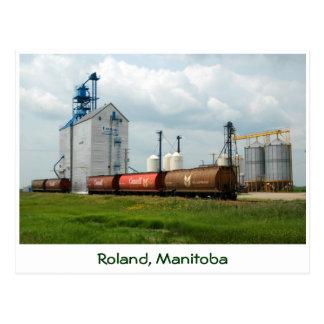 Élévateur à grains occidental carte postale