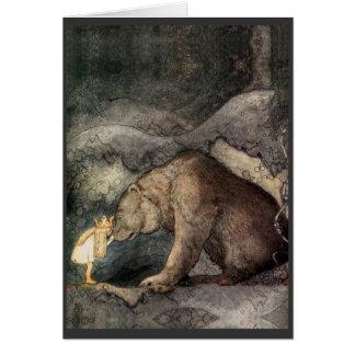 Elle a embrassé le nez de l'ours cartes de vœux