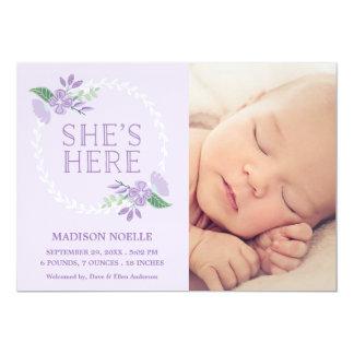 Elle est ici faire-part de naissance de |