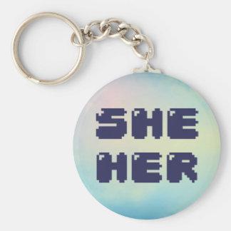 Elle son porte - clé de pronom porte-clés