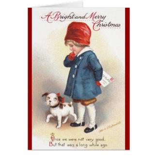 Ellen H. Clapsaddle : Une lettre à Père Noël Carte