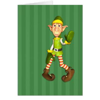 Elmer la carte de Noël d'Elf