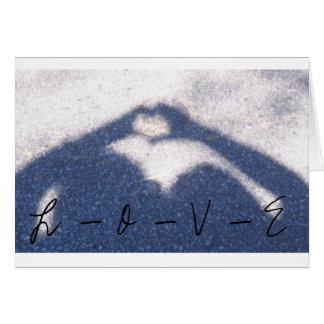 <em><b>Coeur d'ombre</b></em><br><i>AMOUR</i> Carte De Vœux