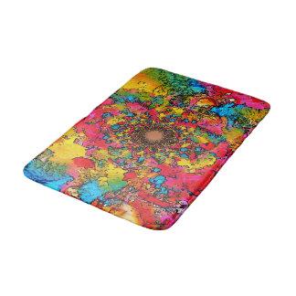 Émanation multicolore de fleur tapis de bain