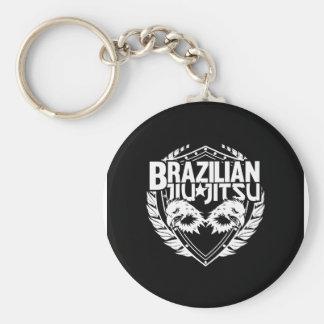 Emblème de Jiu Jitsu de Brésilien Porte-clé Rond