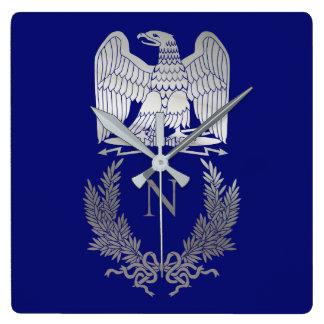 Emblème de Napoleon Bonaparte Horloge Carrée
