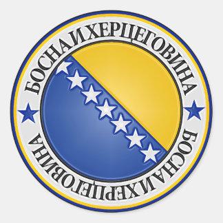Emblème rond de la Bosnie-Herzégovine Sticker Rond