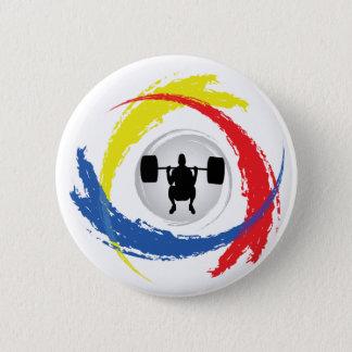 Emblème tricolore d'haltérophilie badge rond 5 cm