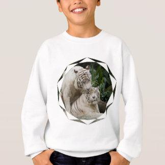 Embrassez les amants blancs de tigres de paix et sweatshirt