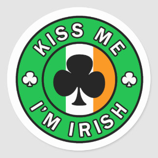 Embrassez-moi que je suis autocollant irlandais