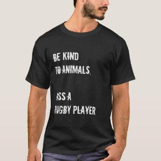 Embrassez un joueur de rugby t-shirt