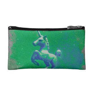 Embrayage cosmétique de sac de licorne (rougeoyant
