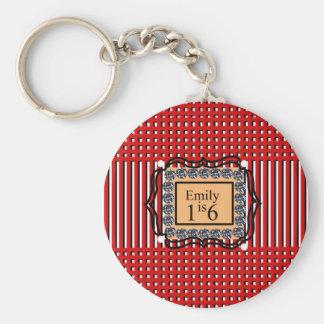 Emily est 16_sweet_diamond_monogram_red_design porte-clés