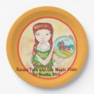 Emma Tate et la plaque à papier de plat magique Assiettes En Papier
