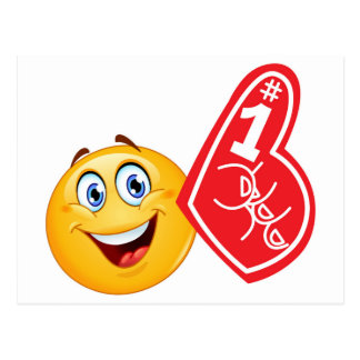 emoji de fan de sports carte postale