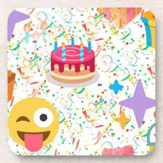 emoji de joyeux anniversaire sous-bocks