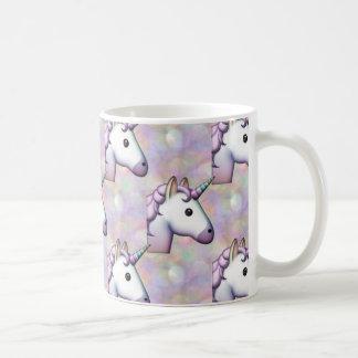 emoji de licorne d'hologramme mug