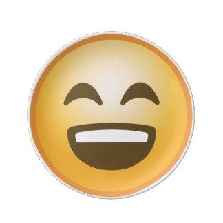 Emoji de sourire assiettes en porcelaine