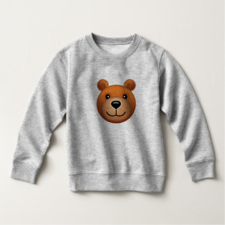 Emoji d'ours sur le long T-shirt de douille