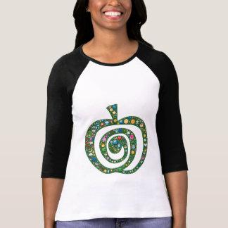Emoji-kunst spiraalvormig appelsymbool van het t shirt