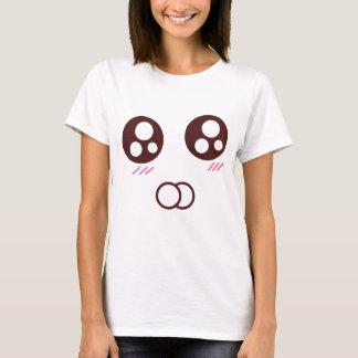 Emoji mignon de minou de kawaii t-shirt