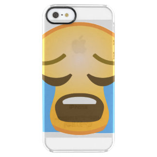 Emoji pleurant fort coque iPhone clear SE/5/5s