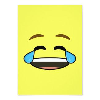Emoji riant carton d'invitation  12,7 cm x 17,78 cm
