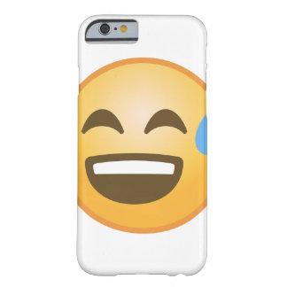 Emoji soulagé de sourire coque iPhone 6 barely there
