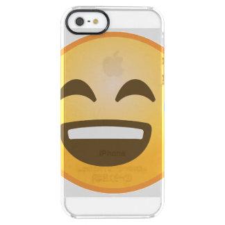 Emoji soulagé de sourire coque iPhone clear SE/5/5s