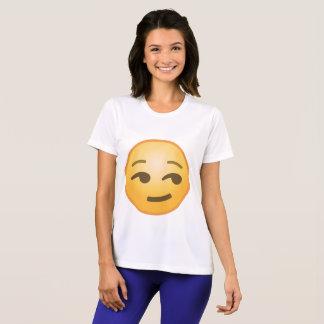 Emoji souriant d'un air affecté t-shirt