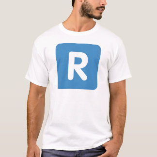 Emoji Twitter Letter R T Shirt