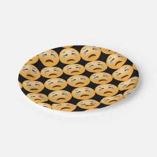 Emojis triste assiettes en papier