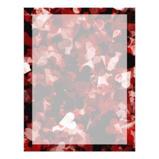 Émotion rouge de coeurs de véritable amour avec la prospectus 21,6 cm x 24,94 cm