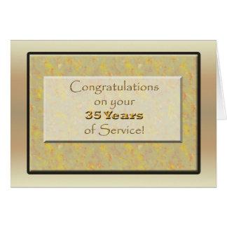 Employé 35 années de service ou anniversaire carte