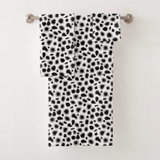 Empreinte de léopard, noir et blanc