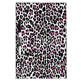 empreinte de léopard rose tableau effaçable à sec