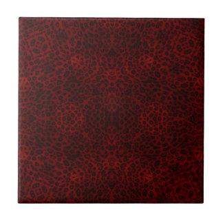 Empreinte de léopard rouge et noir carreaux en céramique