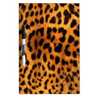 empreinte de léopard tribal d'animal de safari de tableau effaçable à sec